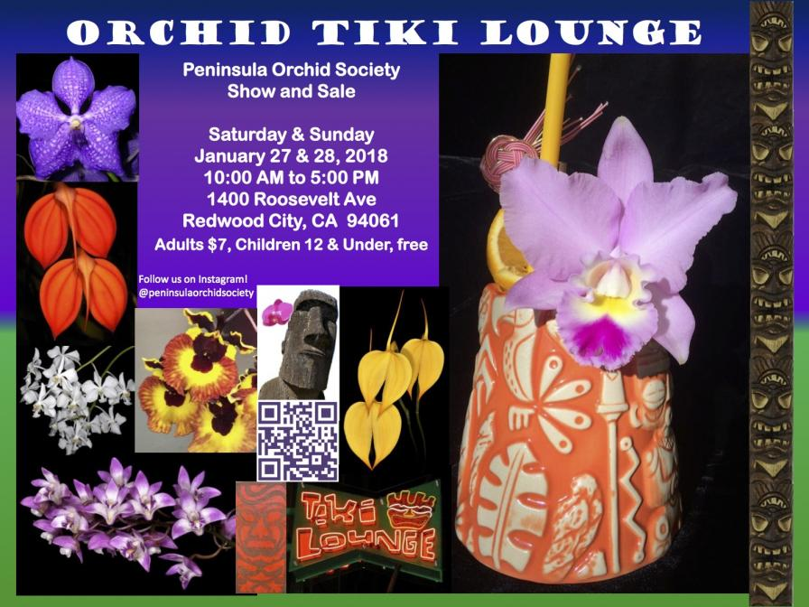 Peninsula Orchid Society Show and Sale, January 27 & 28-poster-2018-5-online-jpg