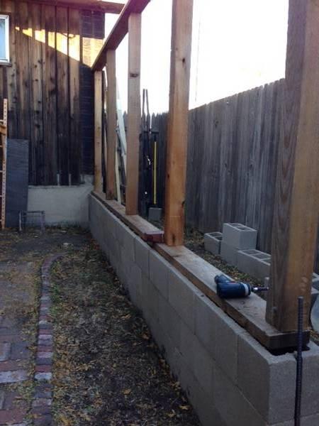 side wall beginning