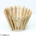 Round wood orchid basket 6""