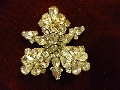 Rhinestone Cattleya Pin (Upside Down)